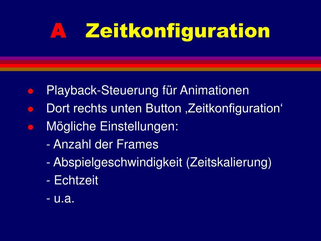 Playback-Steuerung für Animationen