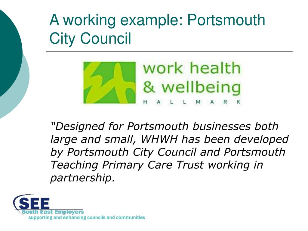 A working example: Portsmouth City Council