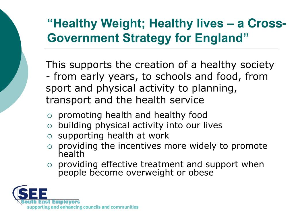 """Healthy Weight; Healthy lives – a Cross-Government Strategy for England"""