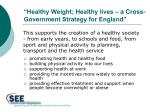 healthy weight healthy lives a cross government strategy for england