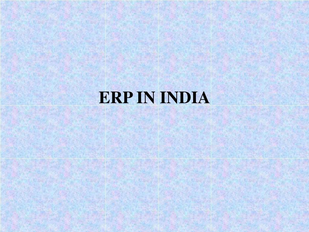 ERP IN INDIA