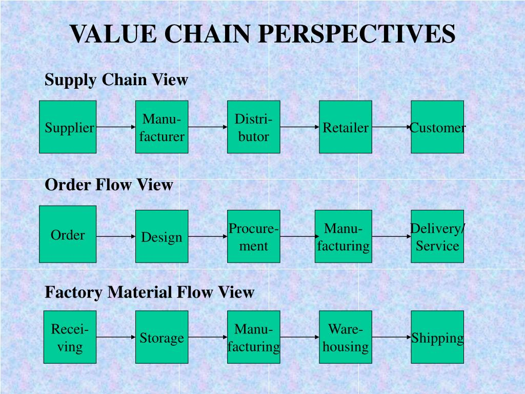 VALUE CHAIN PERSPECTIVES