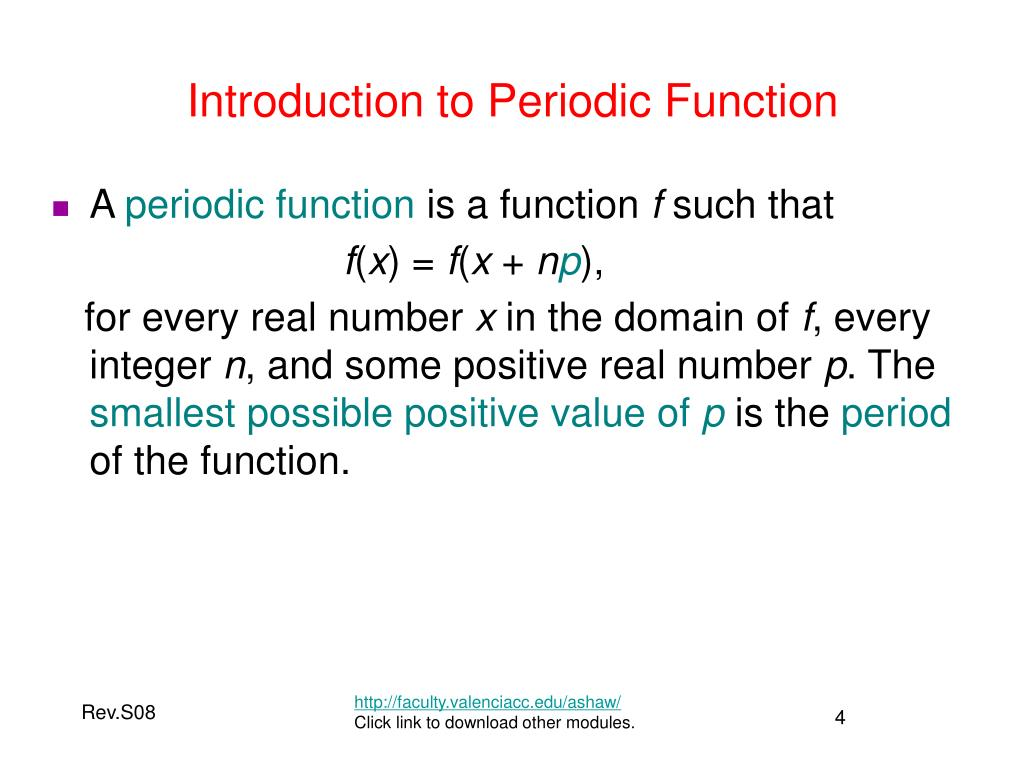 Introduction to Periodic Function
