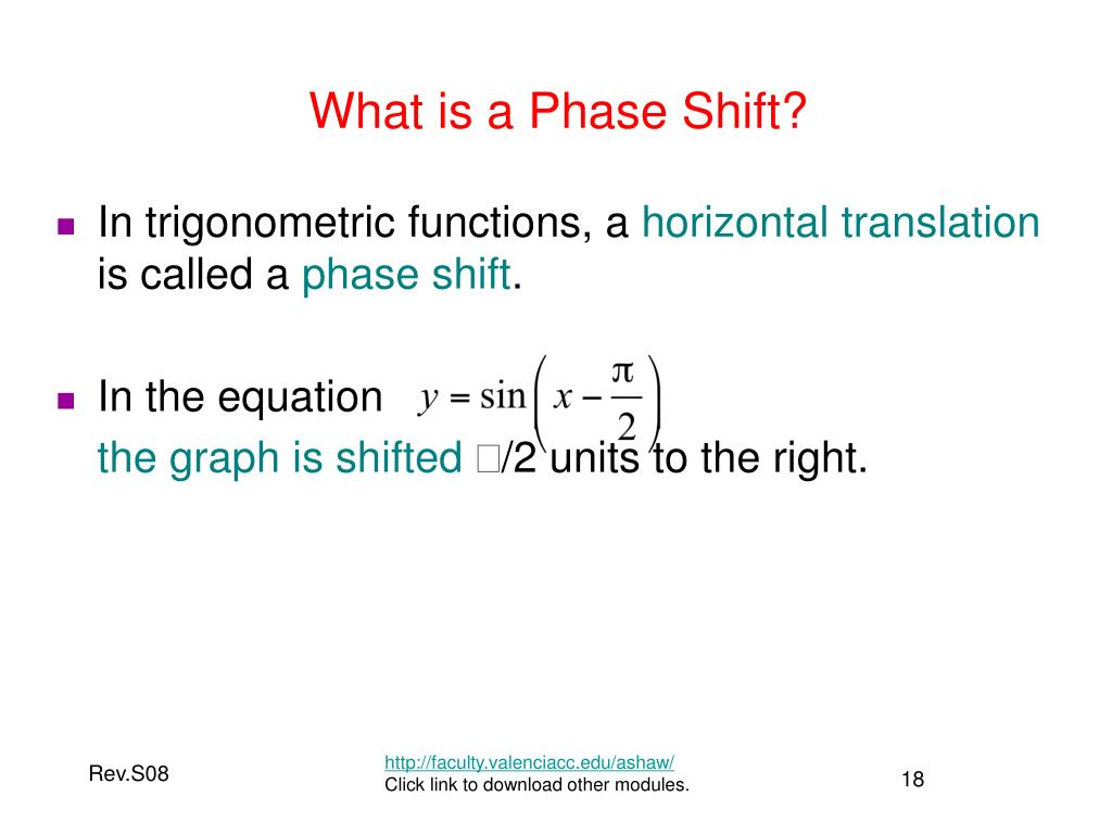 What is a Phase Shift?