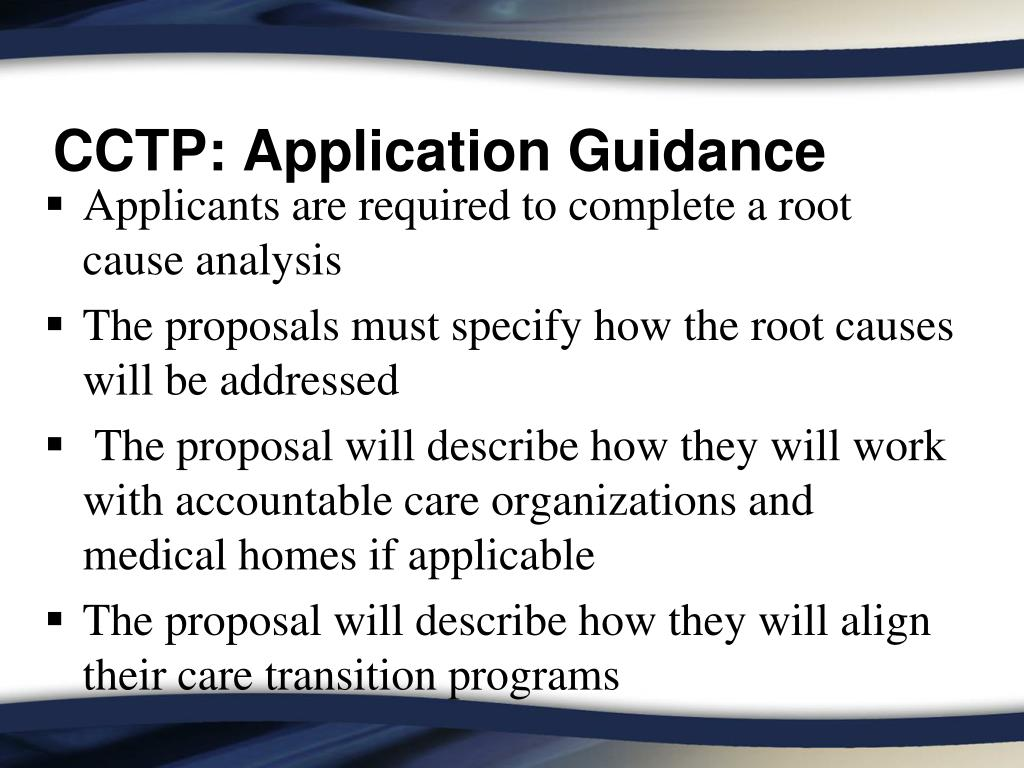 CCTP: Application Guidance