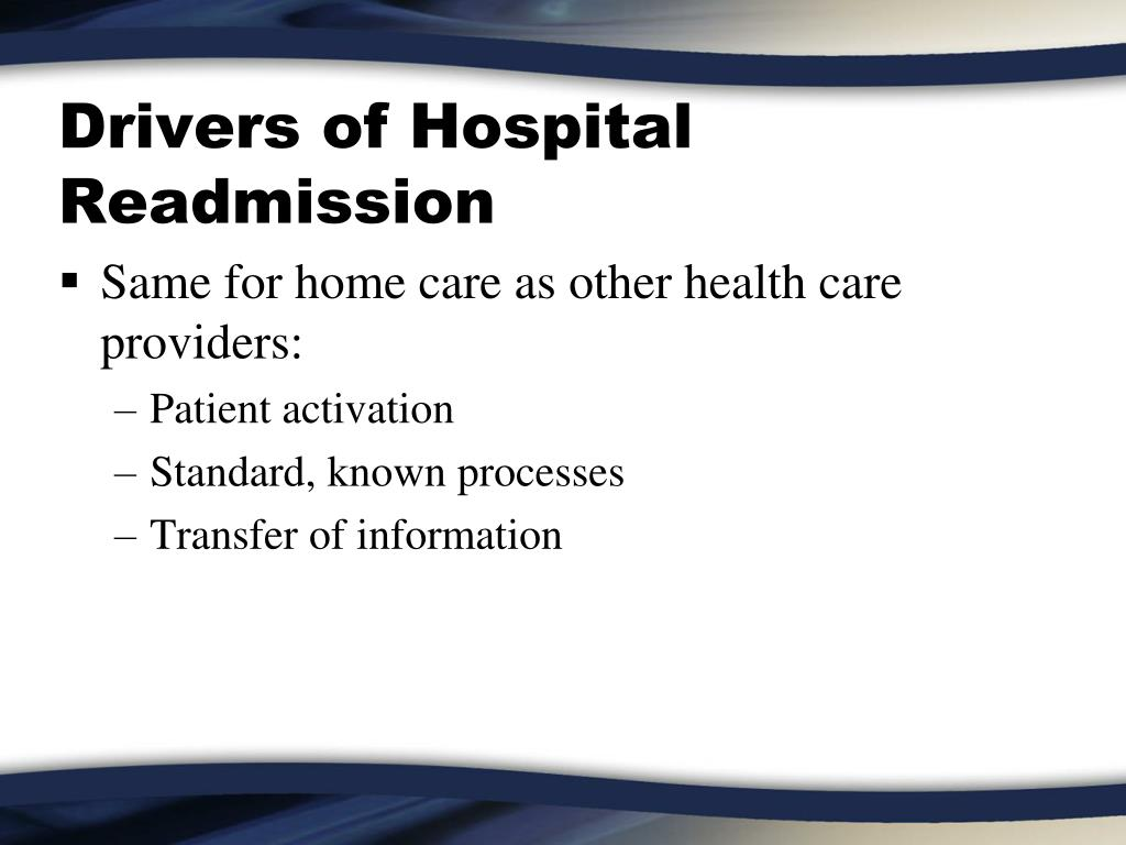 Drivers of Hospital Readmission