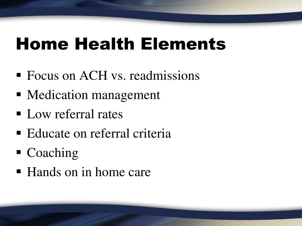 Home Health Elements