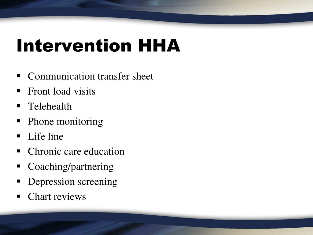 Intervention HHA