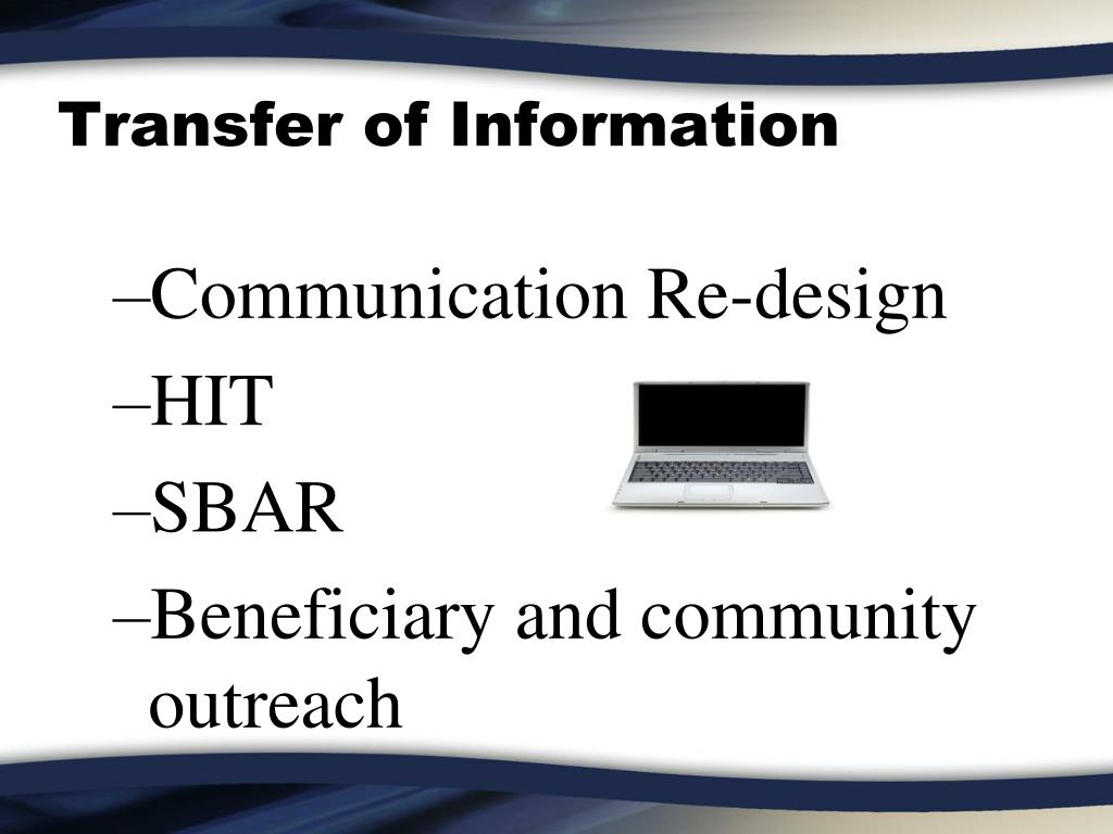 Transfer of Information