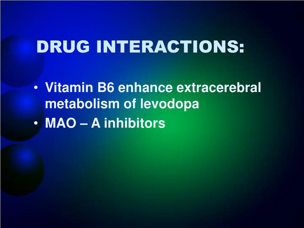 DRUG INTERACTIONS: