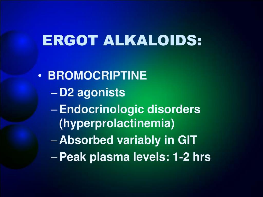 ERGOT ALKALOIDS: