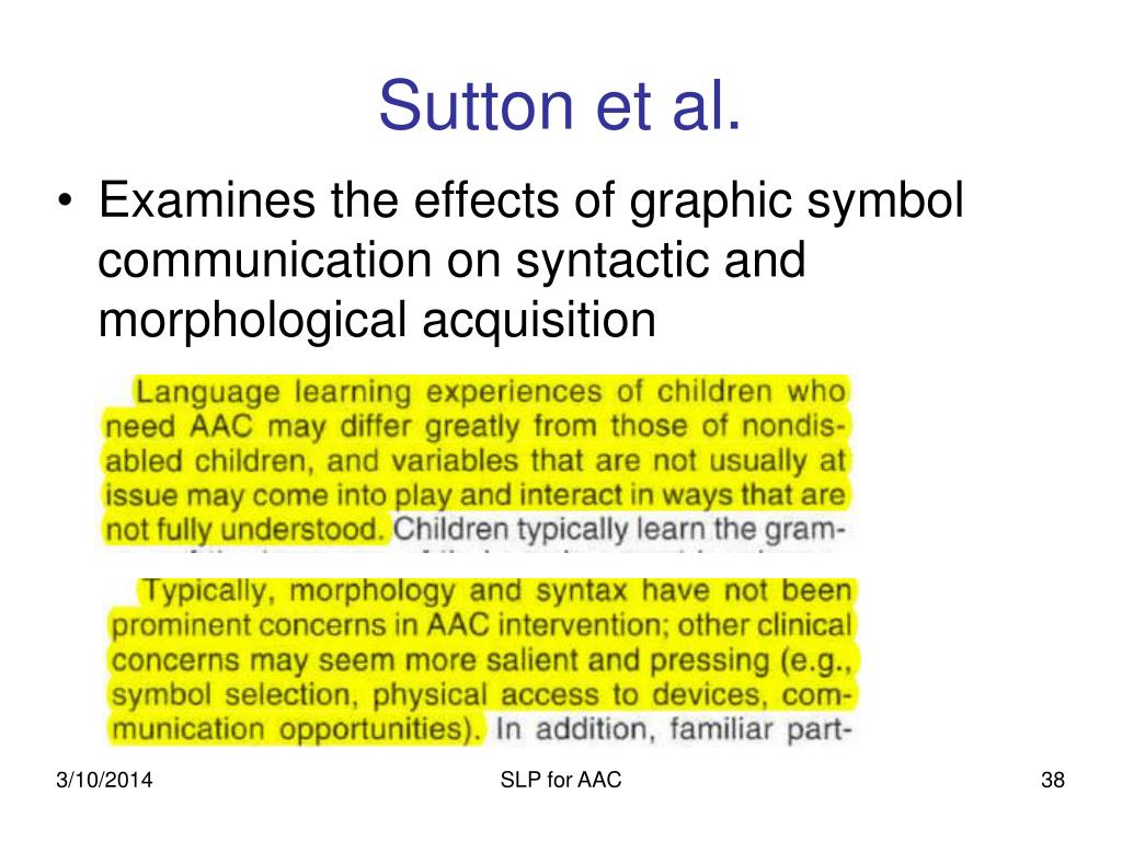 SLP for AAC