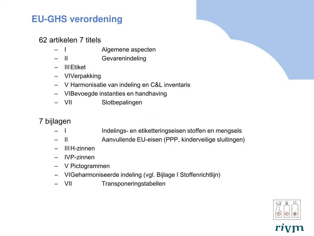 EU-GHS verordening