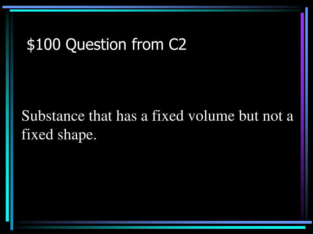 $100 Question from C2