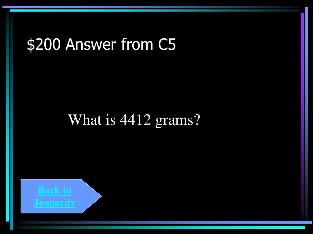 $200 Answer from C5