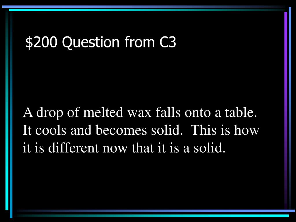 $200 Question from C3