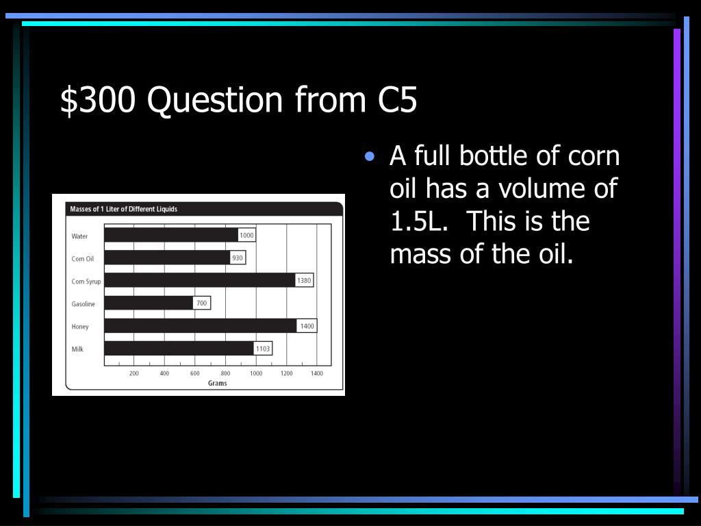 $300 Question from C5