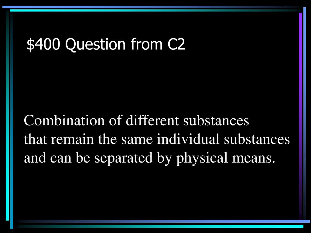 $400 Question from C2