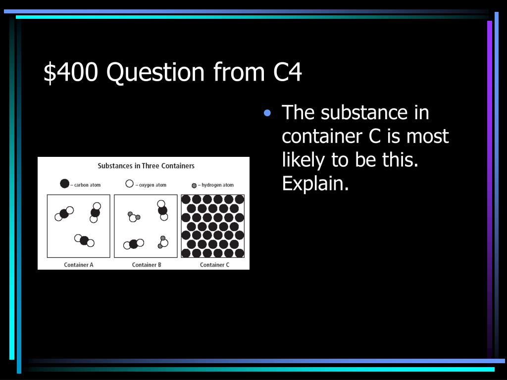 $400 Question from C4