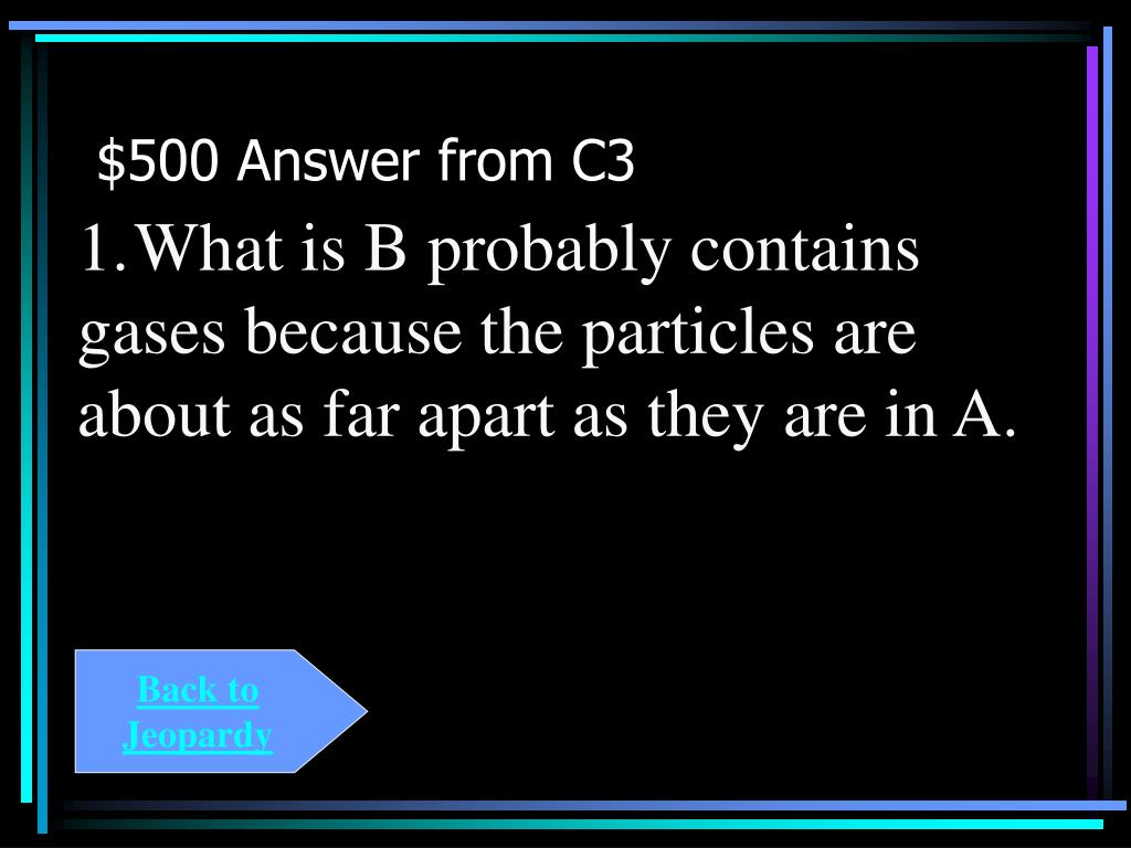 $500 Answer from C3