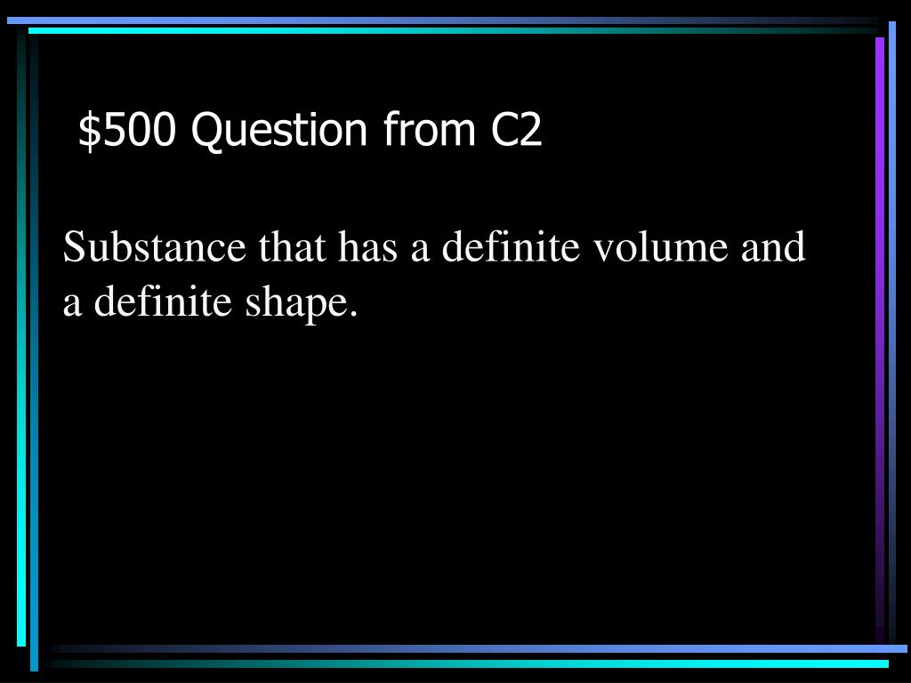 $500 Question from C2