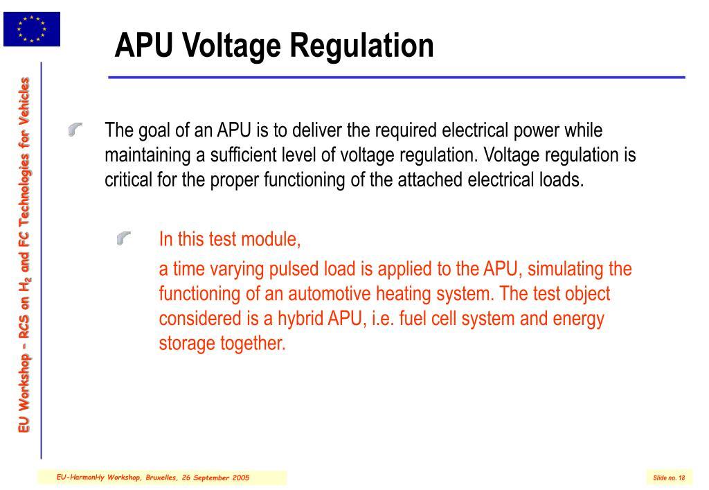 APU Voltage Regulation