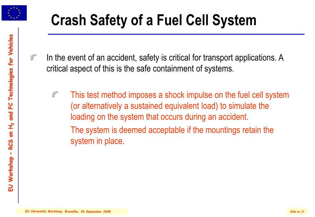 Crash Safety of a Fuel Cell System