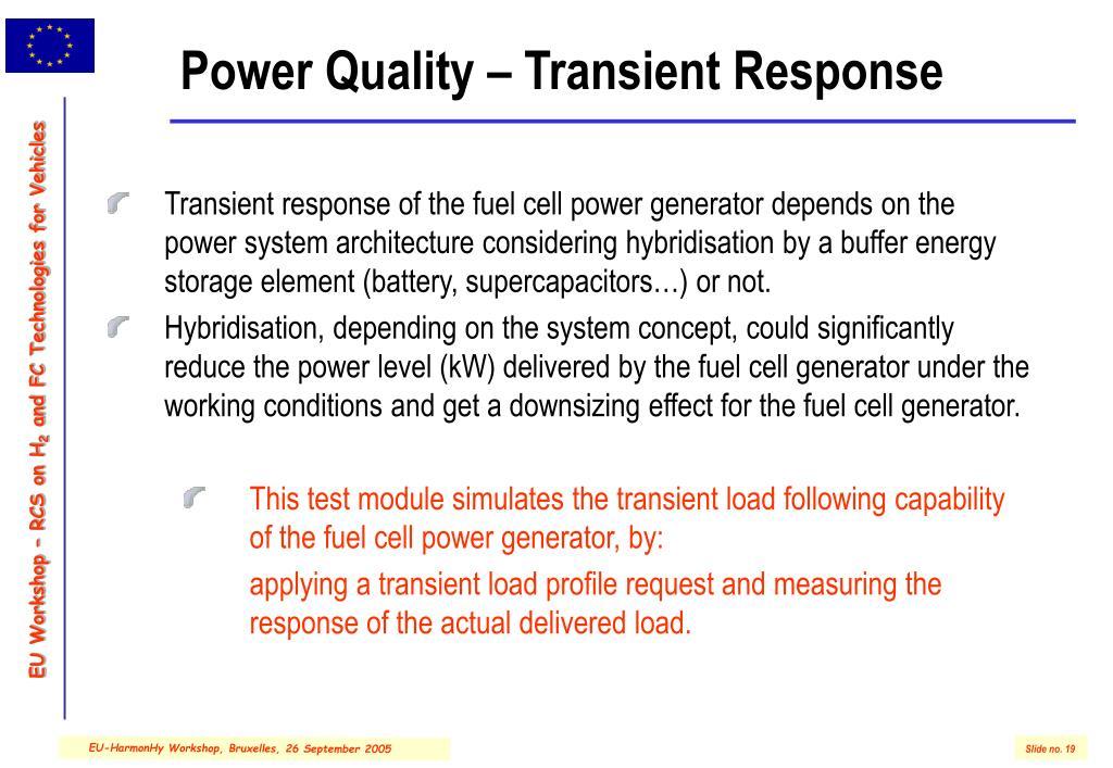 Power Quality – Transient Response