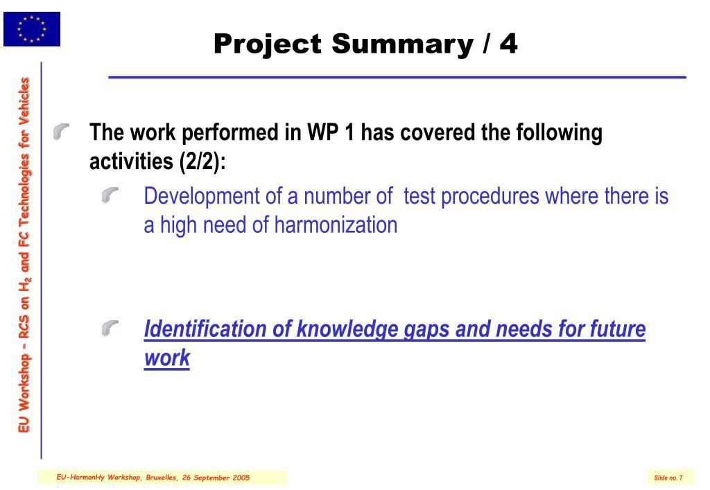 Project Summary / 4