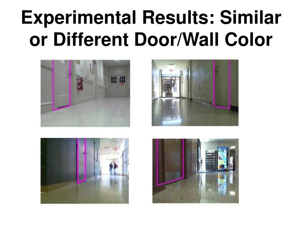 Experimental Results: Similar or Different Door/Wall Color