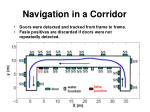 navigation in a corridor