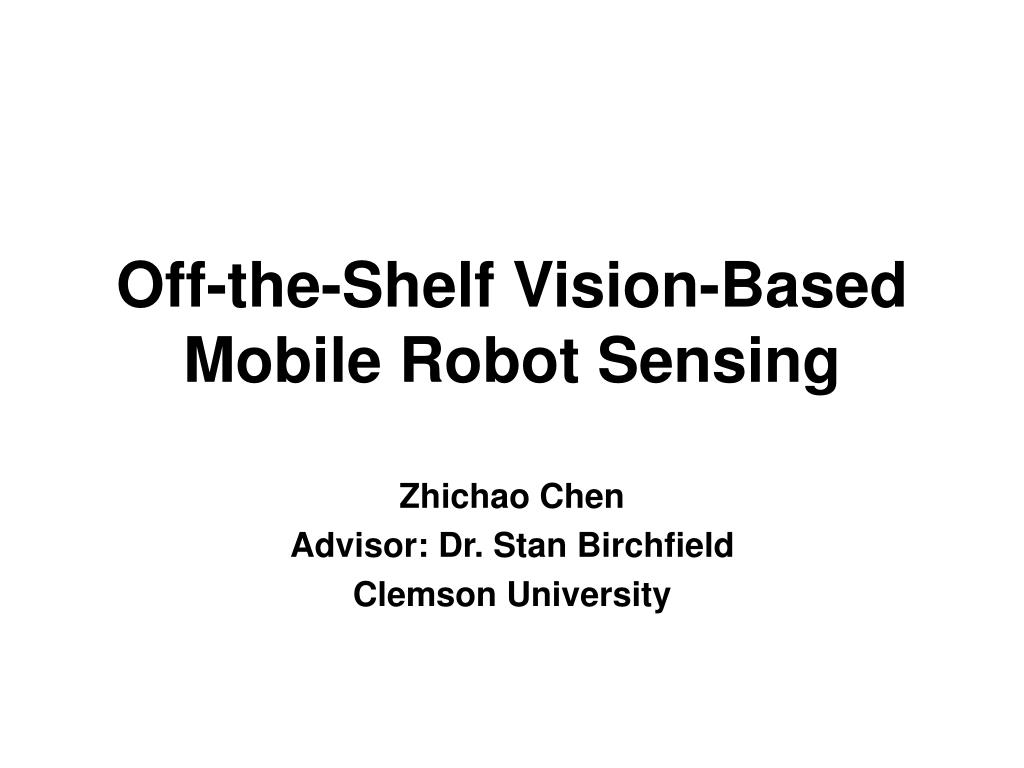 off the shelf vision based mobile robot sensing