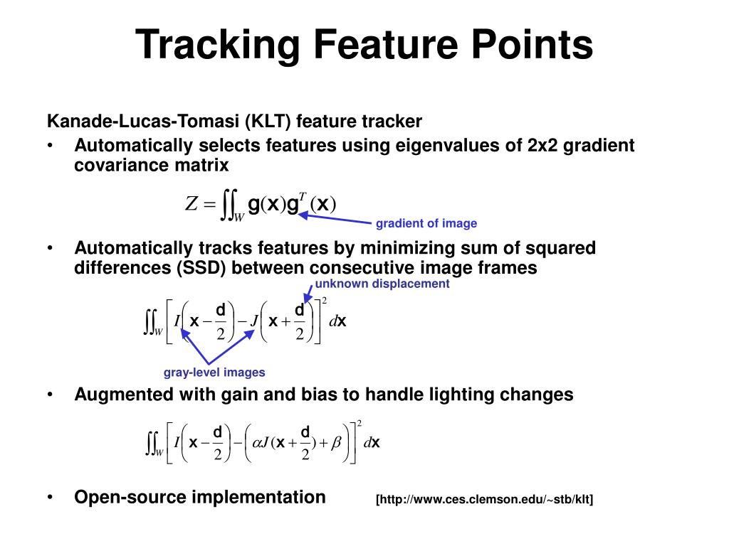 Tracking Feature Points
