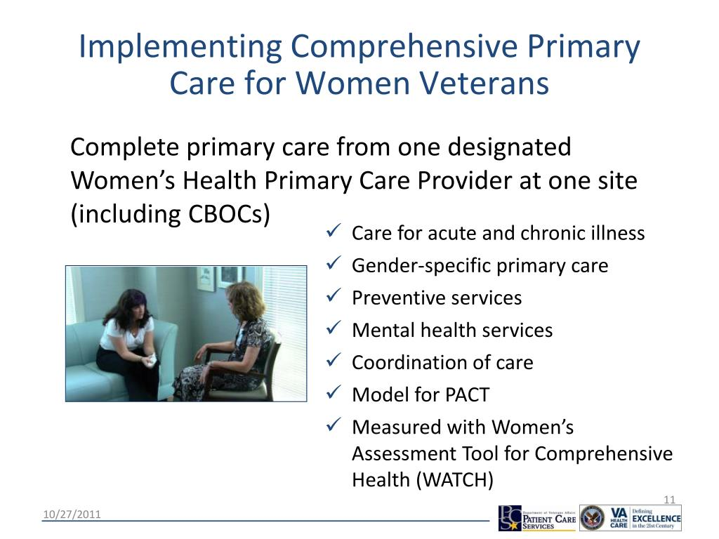 Implementing Comprehensive Primary Care for Women Veterans