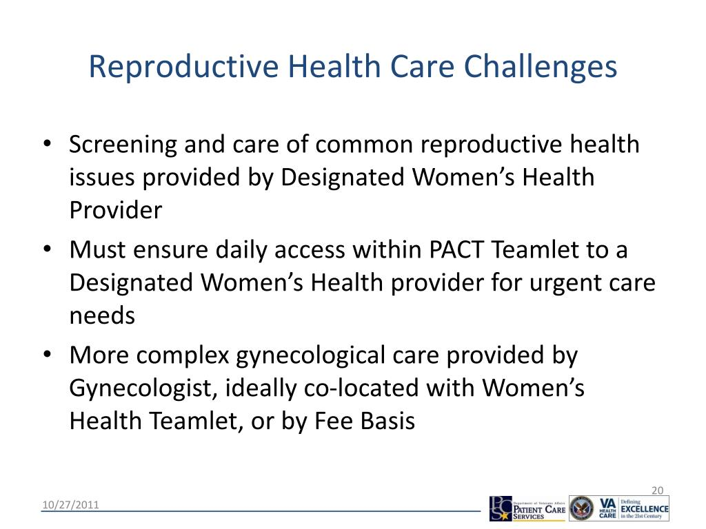 Reproductive Health Care Challenges
