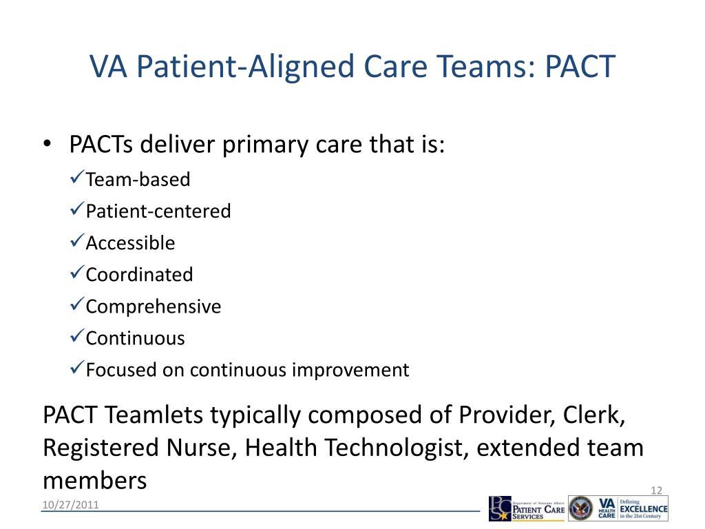VA Patient-Aligned Care Teams: PACT