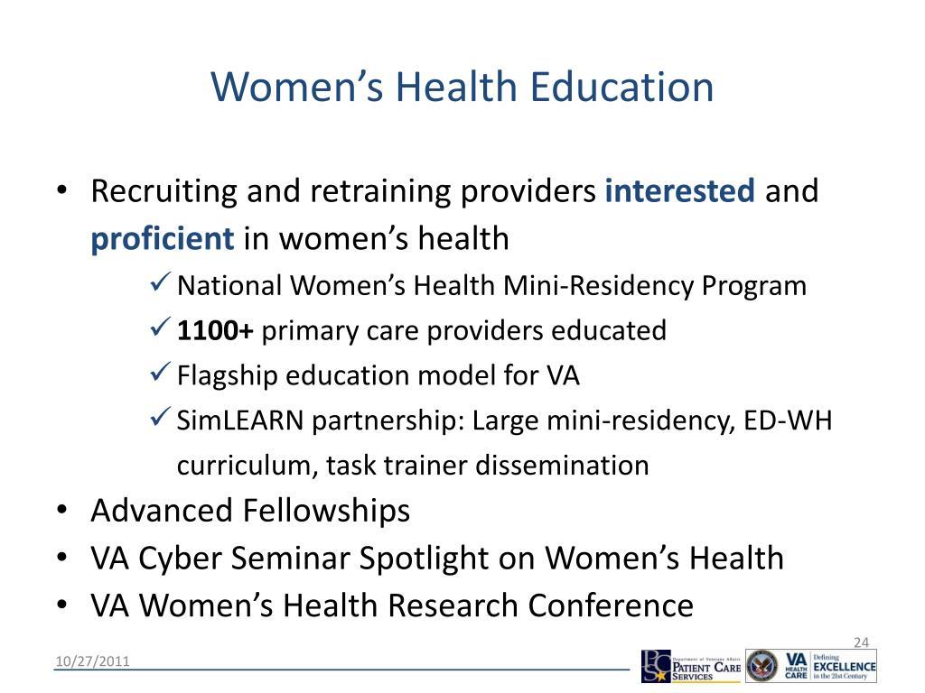 Women's Health Education