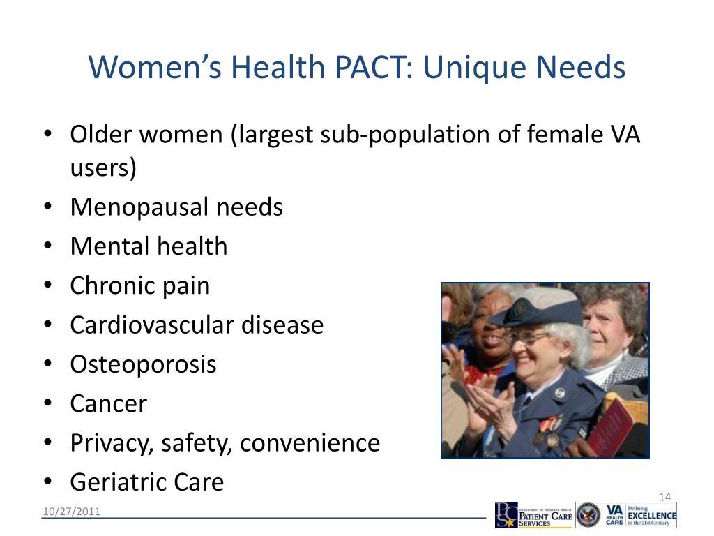 Women's Health PACT: Unique Needs