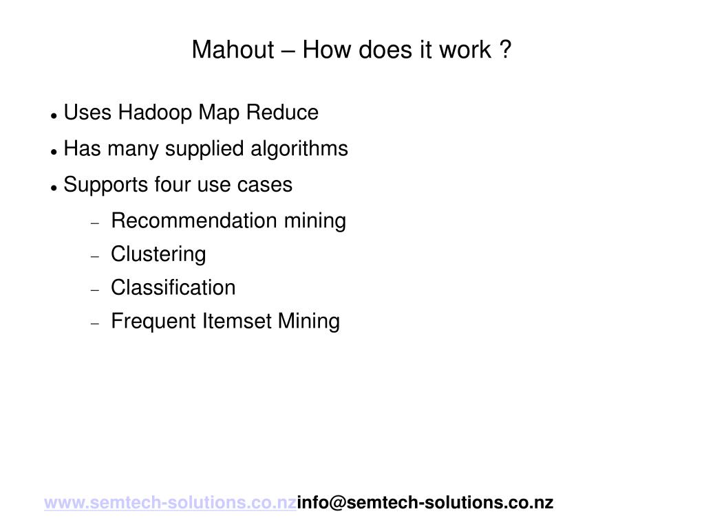 Mahout – How does it work ?