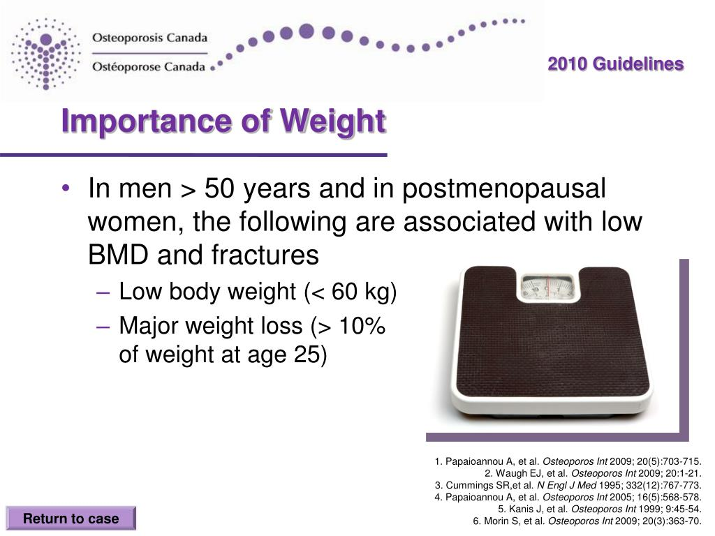 Importance of Weight