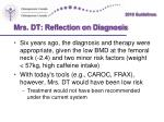 mrs dt reflection on diagnosis