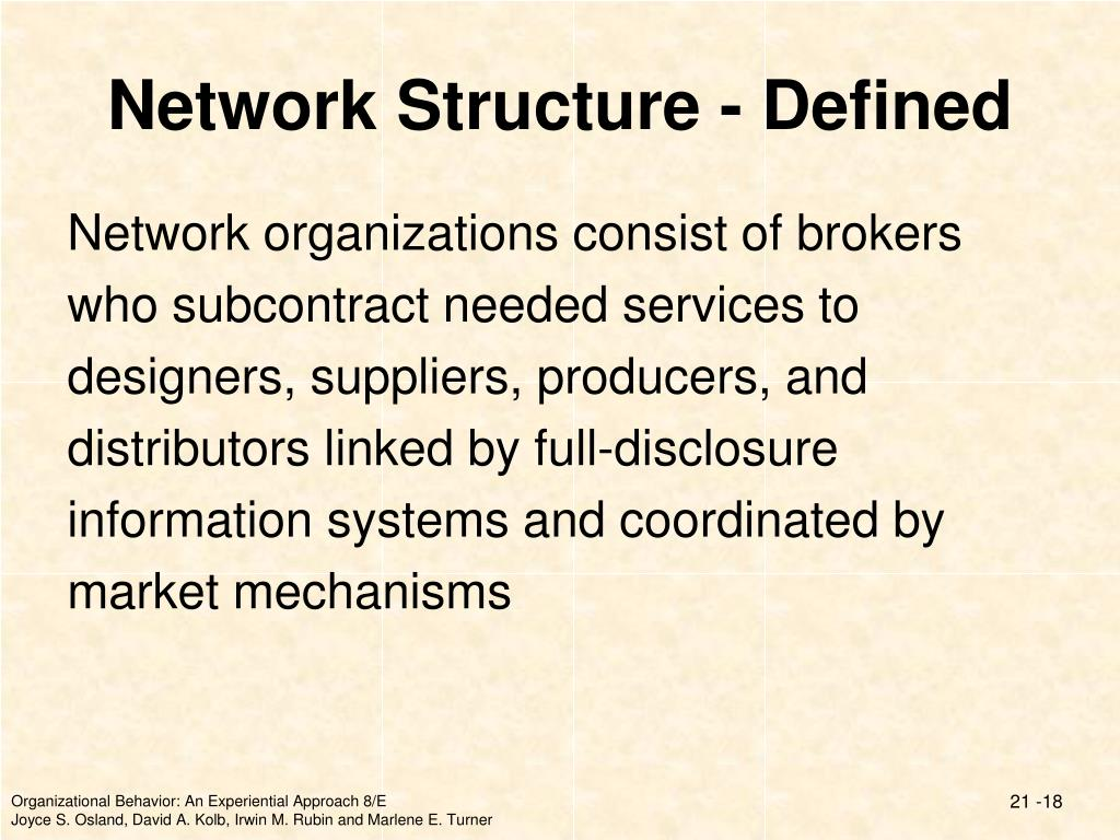 Network Structure - Defined