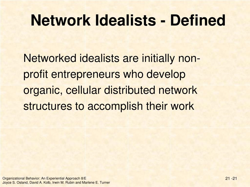 Network Idealists - Defined
