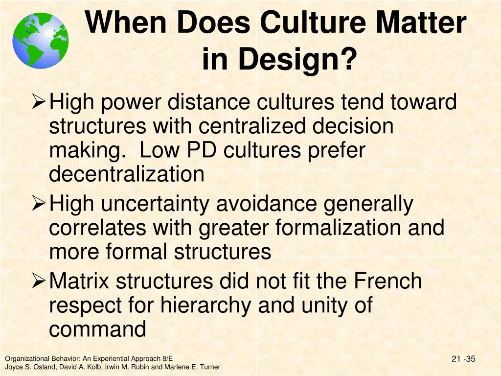 When Does Culture Matter