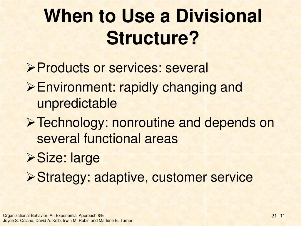 When to Use a Divisional Structure?