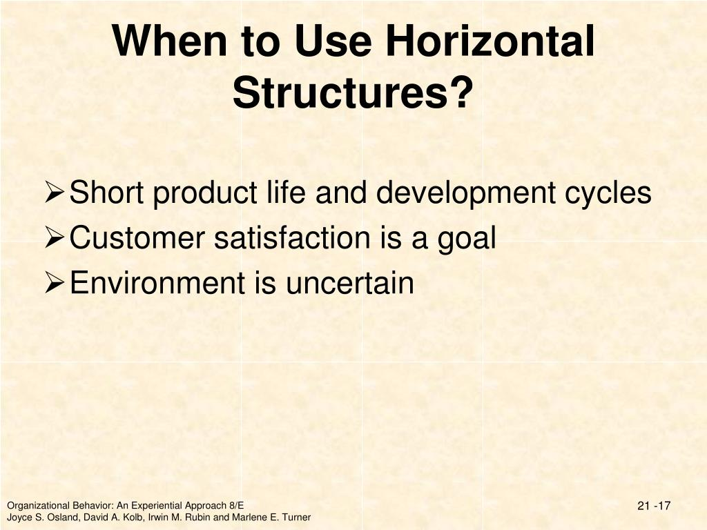When to Use Horizontal Structures?