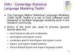 cmu cambridge statistical language modeling toolkit
