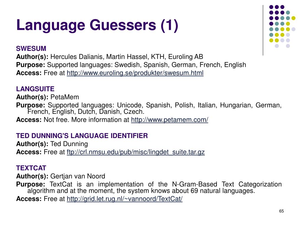 Language Guessers (1)