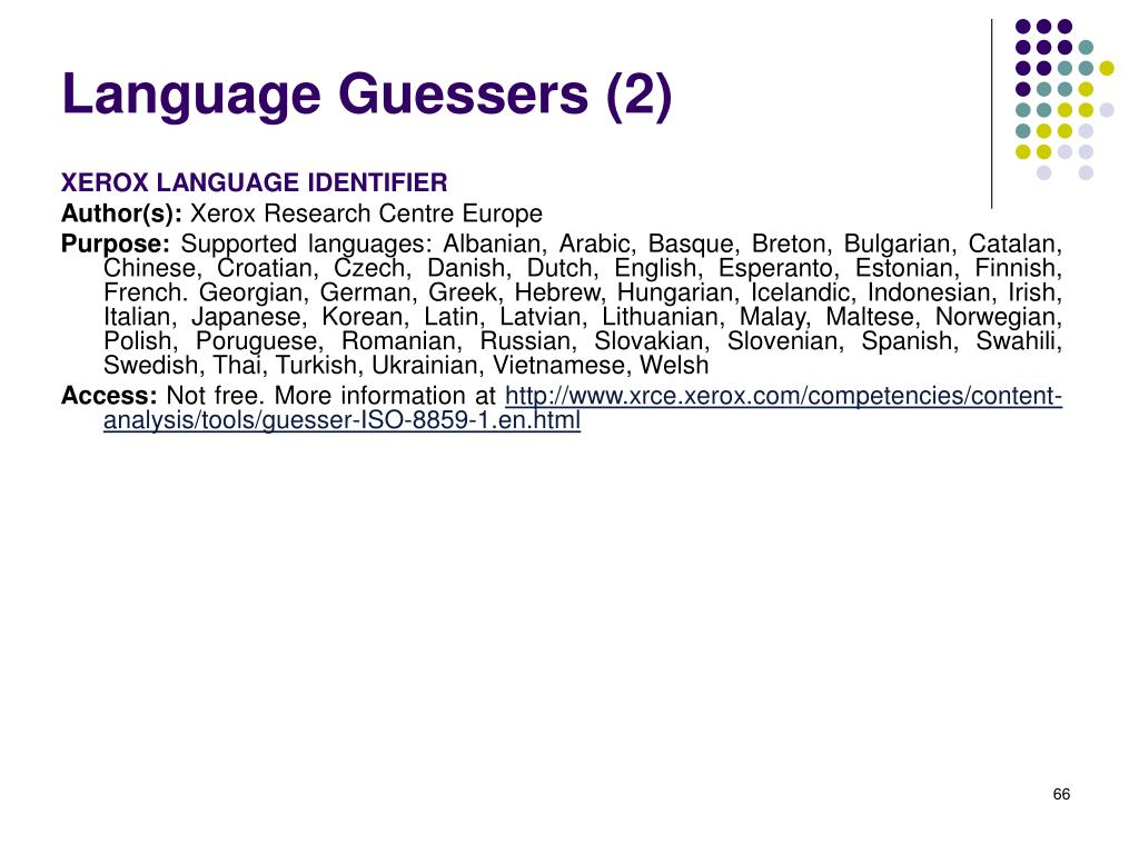 Language Guessers (2)