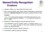 named entity recognition problems